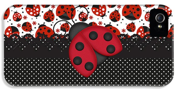 Ladybug Mood  IPhone 5s Case by Debra  Miller