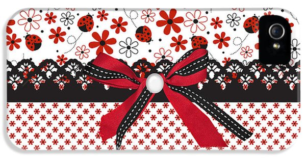 Ladybug Whisper  IPhone 5s Case by Debra  Miller