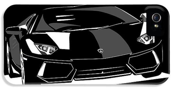 Car iPhone 5s Case - Lamborghini Aventador by Michael Tompsett