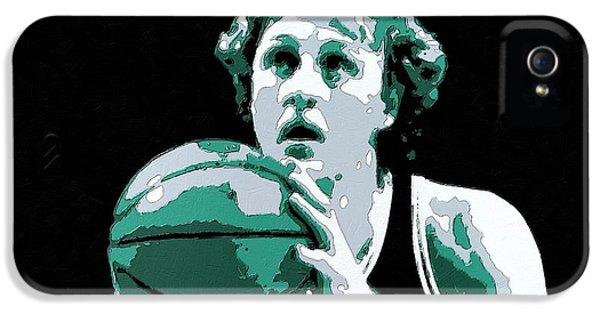 Larry Bird Poster Art IPhone 5s Case by Florian Rodarte
