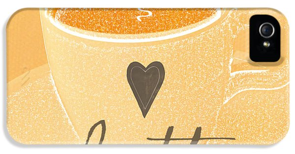 Peach iPhone 5s Case - Latte Love In Orange And White by Linda Woods