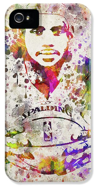 Lebron James In Color IPhone 5s Case by Aged Pixel