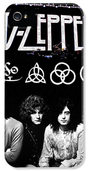 Rock And Roll iPhone 5s Case - Led Zeppelin by FHT Designs