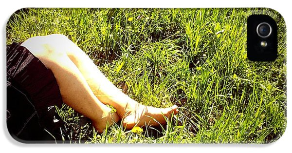 Legs Of A Woman And Green Grass IPhone 5s Case
