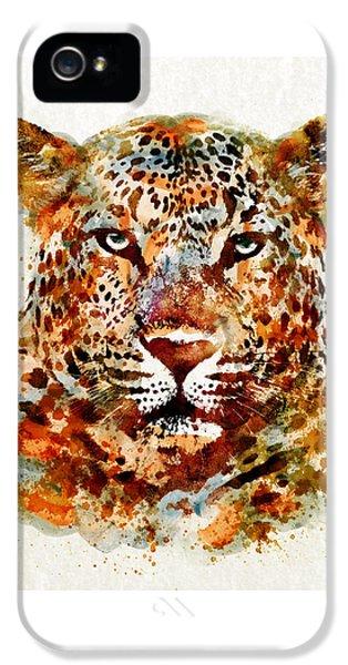 Leopard Head Watercolor IPhone 5s Case