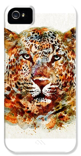 Leopard Head Watercolor IPhone 5s Case by Marian Voicu