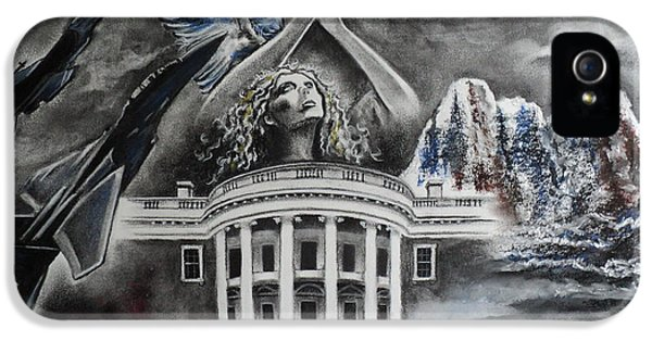 Whitehouse iPhone 5s Case - Let Freedom Ring by Carla Carson