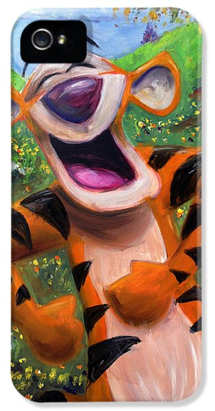 Let's You And Me Bounce - Tigger IPhone 5s Case by Andrew Fling
