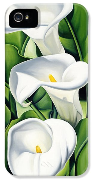 Lily iPhone 5s Case - Lilies by Catherine Abel