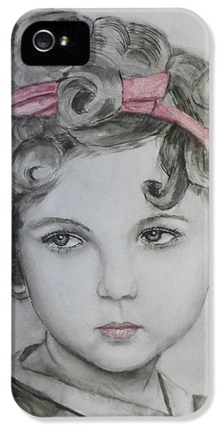 Little Shirley Temple IPhone 5s Case by Kelly Mills