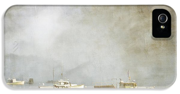 Boat iPhone 5s Case - Lobster Boats At Anchor Bar Harbor Maine by Carol Leigh