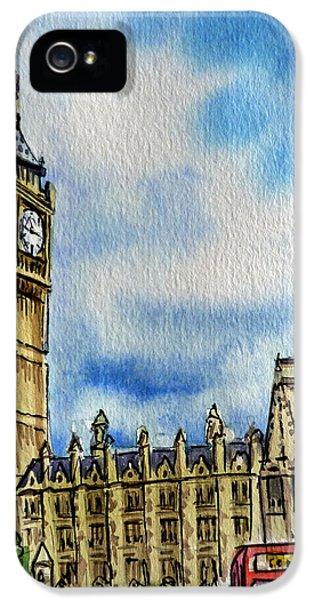 Clock iPhone 5s Case - London England Big Ben by Irina Sztukowski