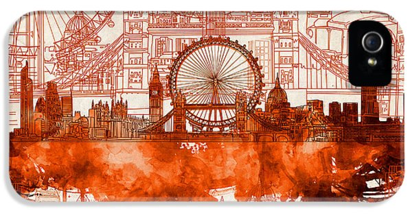 London Skyline Old Vintage 2 IPhone 5s Case