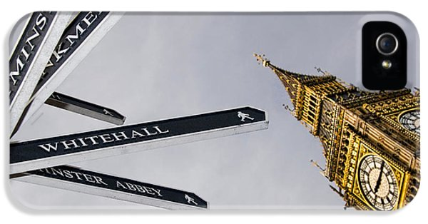 Westminster Abbey iPhone 5s Case - London Street Signs by David Smith