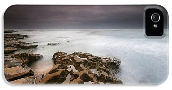iPhone 5s Case - Long Exposure Sunset On A Dark Stormy by Larry Marshall