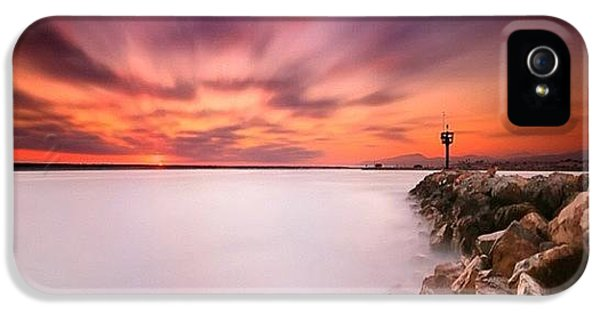 iPhone 5s Case - Long Exposure Sunset Shot At A Rock by Larry Marshall