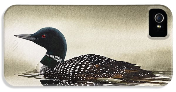 Loon iPhone 5s Case - Loon In Still Waters by James Williamson