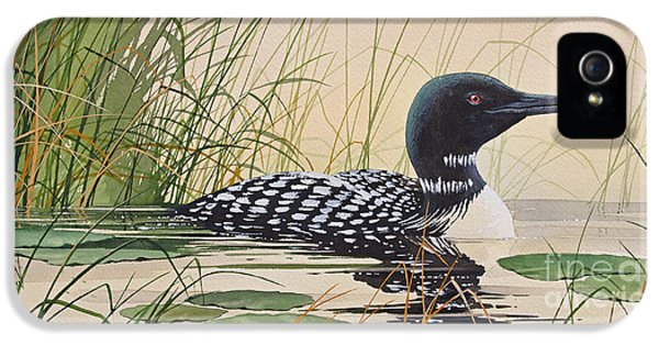 Loon iPhone 5s Case - Loon's Tranquil Shore by James Williamson
