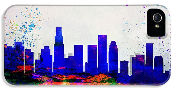 Los Angeles City Skyline IPhone 5s Case by Naxart Studio