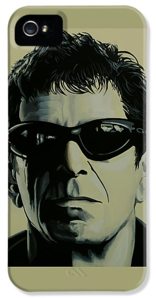 Rock And Roll iPhone 5s Case - Lou Reed Painting by Paul Meijering