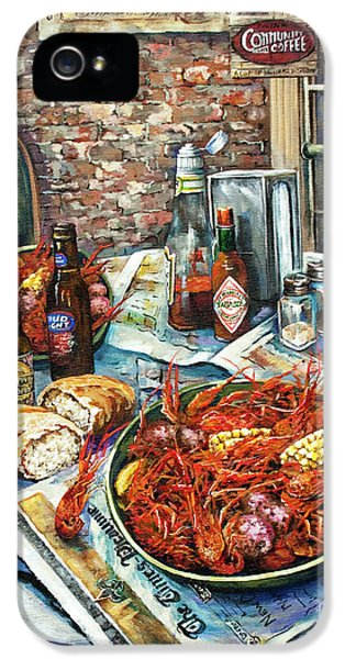 Food And Beverage iPhone 5s Case - Louisiana Saturday Night by Dianne Parks