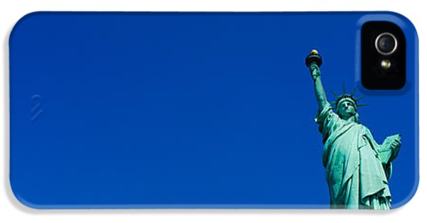 Low Angle View Of Statue Of Liberty IPhone 5s Case by Panoramic Images