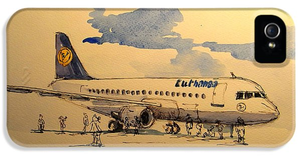 Lufthansa Plane IPhone 5s Case by Juan  Bosco