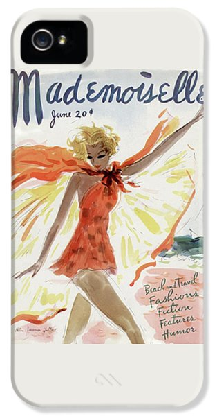 Mademoiselle Cover Featuring A Model At The Beach IPhone 5s Case
