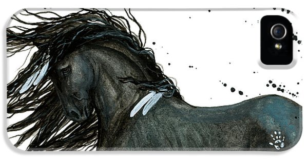 Majestic Friesian Horse 112 IPhone 5s Case by AmyLyn Bihrle