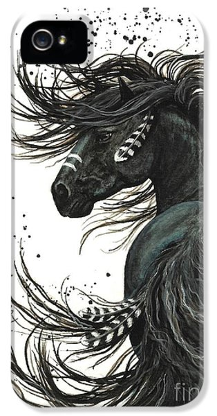 Portraits iPhone 5s Case - Majestic Spirit Horse  by AmyLyn Bihrle