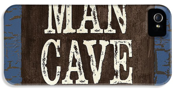 Beer iPhone 5s Case - Man Cave Enter At Your Own Risk by Debbie DeWitt