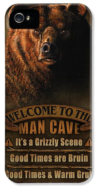 Man Cave Grizzly IPhone 5s Case