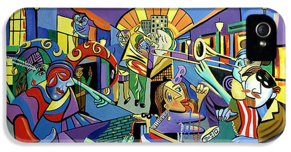 Trombone iPhone 5s Case - Mardi Gras Lets Get The Party Started by Anthony Falbo