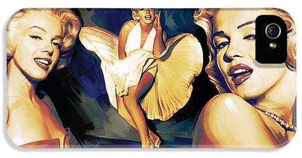 Elvis Presley iPhone 5s Case - Marilyn Monroe Artwork 3 by Sheraz A