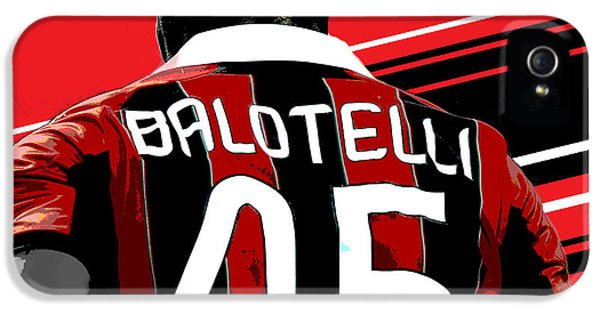 Decorative iPhone 5s Case - Mario Balotelli Ac Milan Print by Pro Prints