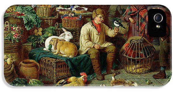 Magpies iPhone 5s Case - Market Scene by Henry Charles Bryant