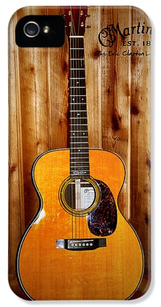 Martin Guitar - The Eric Clapton Limited Edition IPhone 5s Case by Bill Cannon