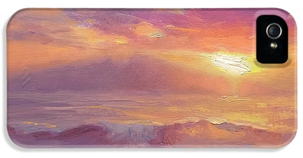 Maui To Molokai Hawaiian Sunset Beach And Ocean Impressionistic Landscape IPhone 5s Case