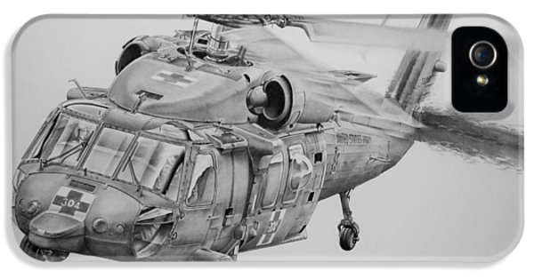 Helicopter iPhone 5s Case - Medevac by James Baldwin Aviation Art