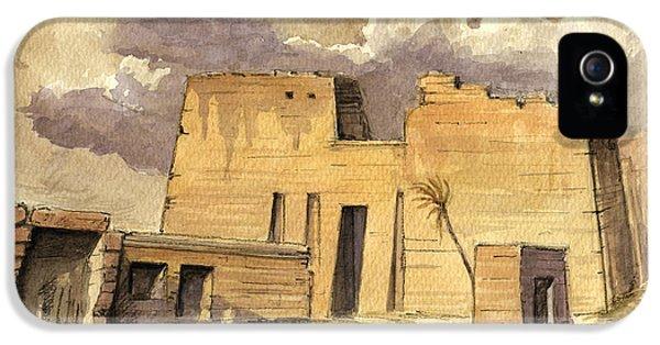 Camel iPhone 5s Case - Medinet Temple Egypt by Juan  Bosco