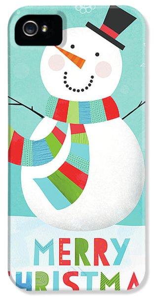 Merry Snowman IIi IPhone 5s Case