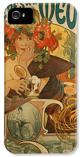 Beer iPhone 5s Case - Meuse Beer by Alphonse Marie Mucha