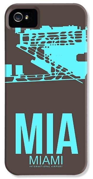 Mia Miami Airport Poster 2 IPhone 5s Case by Naxart Studio
