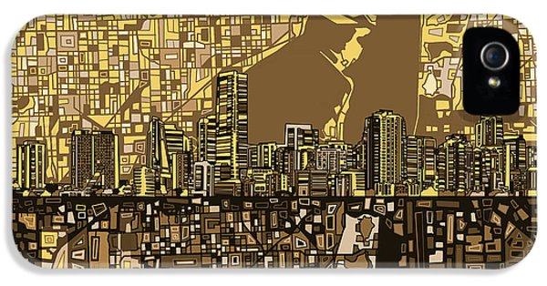 Miami Skyline Abstract 6 IPhone 5s Case