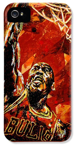 Wizard iPhone 5s Case - Michael Jordan by Maria Arango