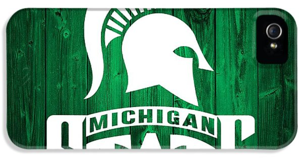 Michigan State Barn Door IPhone 5s Case by Dan Sproul