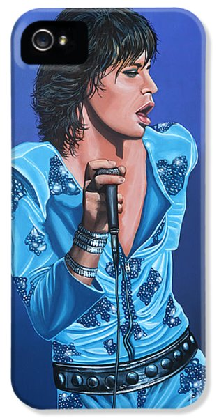 Musicians iPhone 5s Case - Mick Jagger by Paul Meijering
