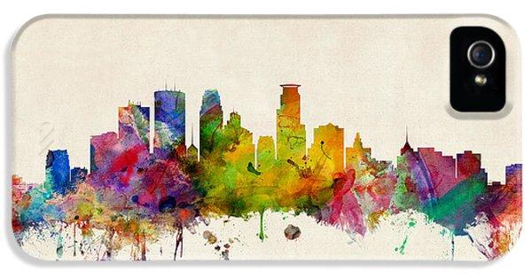 City Scenes iPhone 5s Case - Minneapolis Minnesota Skyline by Michael Tompsett
