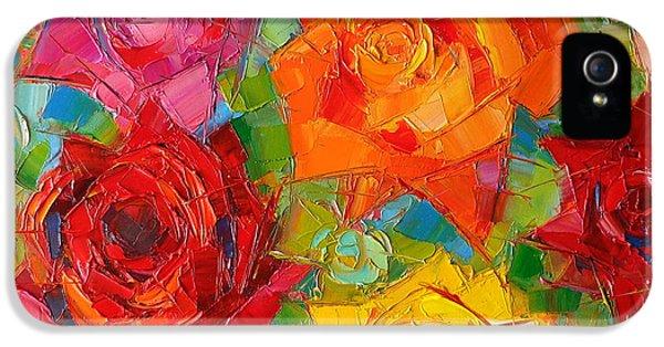 Rose iPhone 5s Case - Mon Amour La Rose by Mona Edulesco