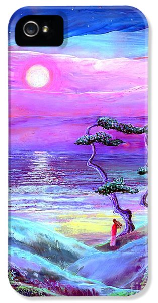 Figurative iPhone 5s Case - Moon Pathway,seascape by Jane Small